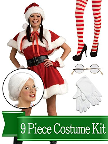 BirthdayExpress Mrs Santa Claus Traditional Womens Complete Costume Kit - Standard