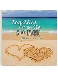 Take P. Graham Dunn Beach Writings Coasters Set of 4 COAP0203 4 x 4 occupation