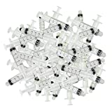 NW 1776 100pcs 5ml Dispensing Luer Lock Tip Syringes Barrels No Needle Adhesive Glue Ink