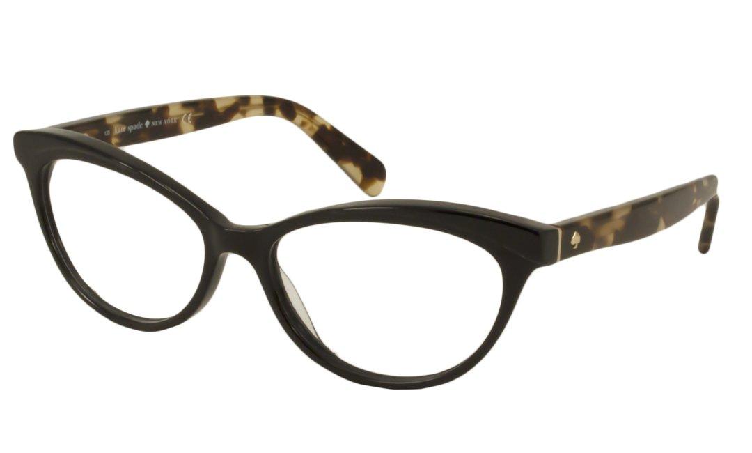 3267f112cef Amazon.com  Kate Spade Steffi Cat Eye Reading Glasses - Black Frame w   Camel Tortoise Temples +2.25  Health   Personal Care