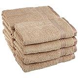 Superior Collection 100% Premium Long-Staple Combed Cotton 8-Piece Hand Towel Set, Toast