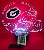led light bar bulldog - Georgia Bulldogs NCAA College Football Light Up Lamp LED Table Lamp, Our Newest Feature - It's Wow, Comes with Remote, 16 Color Options, Dimmer, Free Engraving, Great Gift