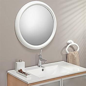 Spiegel Rund Weiss O 60 Cm Wandspiegel Badspiegel Amazon De Kuche
