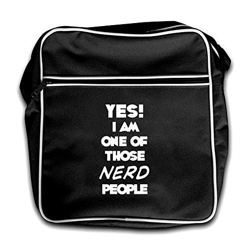 People Bag Of Am One I Yes Those Black Flight Retro Nerd YAaASqw