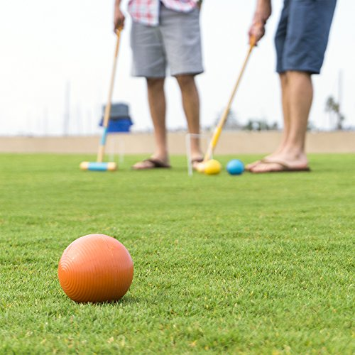 GoSports Premium Croquet Set - Full Size for Adults & Kids