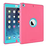 iPad Air Case,by eSellerBox Heavy Duty Full-body Rugged Armor Hybrid Multi-Layer Protective With kickstand Stand Holder Built-in Screen Protector Defense Case Cover