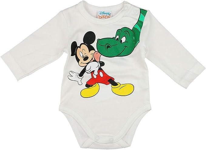 Mickey Mouse Jungen Baby Body Langarm in Blau Wei/ß Gr 56 62 68 74 80 86 92 98 Disney Baby Wickelbody 0 6 12 18 24 Monate Farbe Modell 8