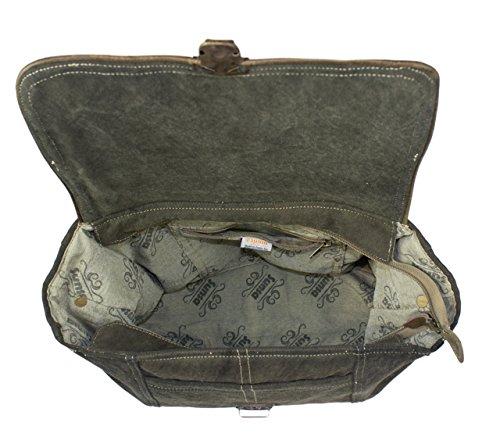Sunsa Borse da Donna Vintage Borse a tracolla Borsette in Canvas / Telo olona con pelle 51765