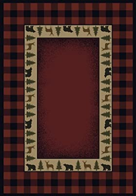 United Weavers of America Genesis Collection Buffalo Red Heavyweight Heat Set Olefin Rug