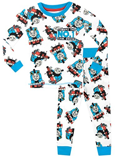 Thomas & Friends Boys' Thomas The Tank Engine Pajamas Size 3T (Badge Thomas Tank)