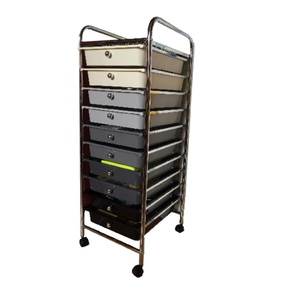 XFACTOR DEAL LIMITED Make Up Trolley On Wheels Hairdressing 10 Drawer Storage Stationery and Organisation Salon Mobile Design Castor &EBook by XFDL DA