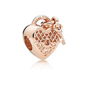 ecca4cd3e Image Unavailable. Image not available for. Color: Pandora Rose Love You  Lock Charm 787655