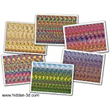 "Set of Six 18""x13"" Stereogram Posters (Set#2)"
