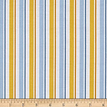Despicable Me 1 in a Minion Blue Stripe Cotton Minions Fabric by the Yard