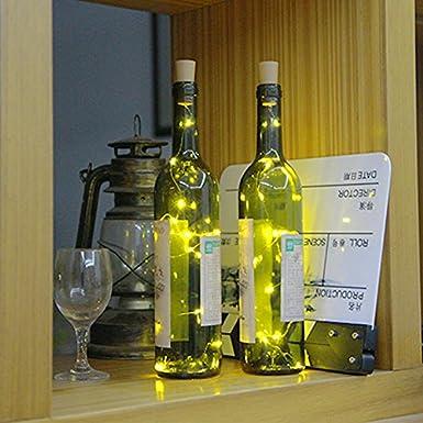 15 LED Luz de Botella,Cadenas Luces para Vino Botella,Lámparas decorada, DIY Luz ambiente (RGB, 3 PCS): Amazon.es: Iluminación