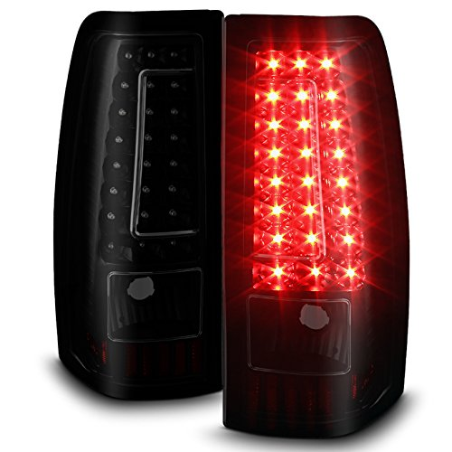 For 99-02 Chevy Silverado 09-03 GMC Sierra Pickup Truck Black Smoked G2 LED Tail Lights Brake Lamps Replacement