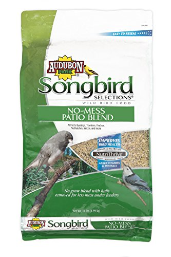 Songbird Selections 11986 No-Mess Patio Blend Wild Bird Food, 11-Pound