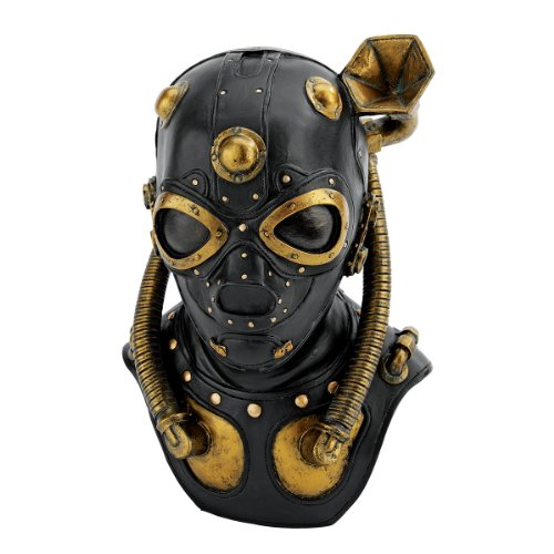 Design Toscano Steampunk Apocalypse Gas Mask Statue, -