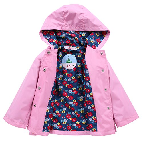 LZH Toddler Girls Raincoat Waterproof Outwear Coat Jacket with Hoodies by LZH (Image #1)