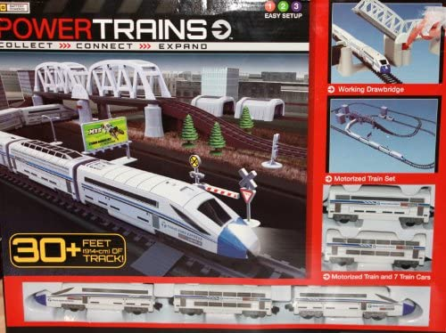 Power Trains Motorized Deluxe City Train Set with 30 Feet of Track