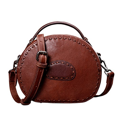 colore da borsa Retrò pelle Olprkgdg donna mano a marrone marrone tracolla diagonale in nqvxxgwFS8