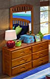 American Furniture Classics 2150DM Six Drawer Dresser with Mirror