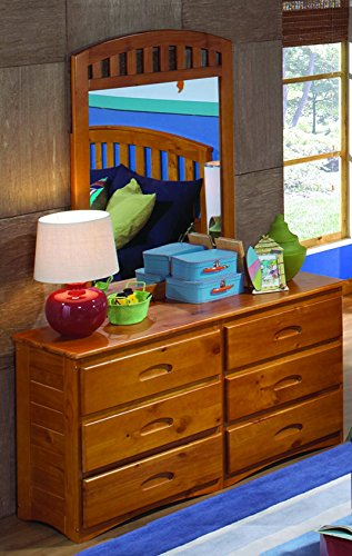 American Furniture Classics 2150DM Six Drawer Dresser with (Bureau Mirror)