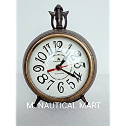 M.Nauticalmart Antique Maritime Table Clock Nautical Vintage Decorative Marine Working Clock Handmade Eye Catching Table Clock
