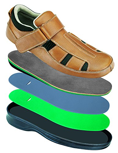 Brown Orthopedic Depth Orthofeet Fasciitis Diabetic Plantar Melbourne Men's Comfortable Most Sandals AqUXwUCP
