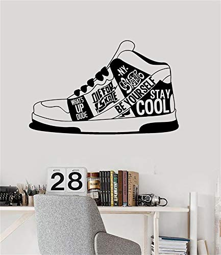 systom Wall Sticker Removable Home Decor Wall Vinyl Decals Sneakers Urban Style Teen