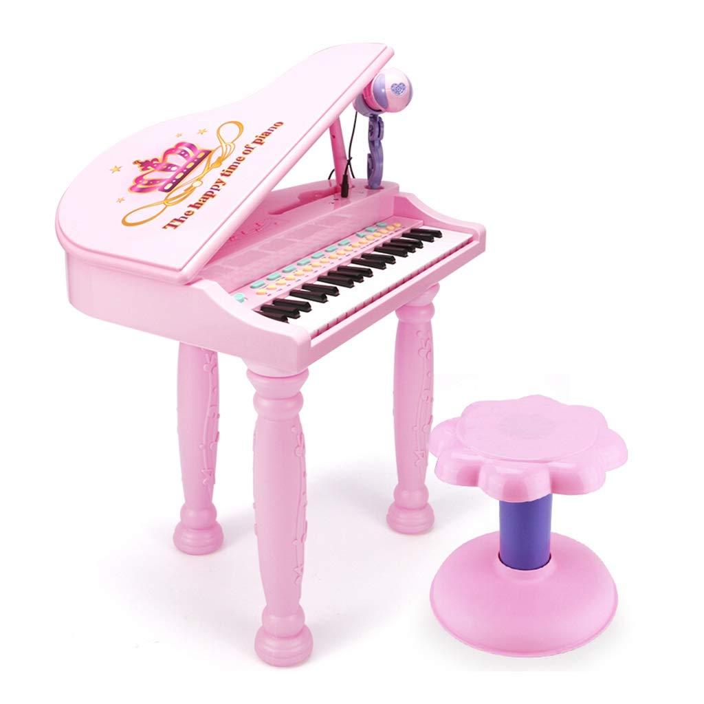 LINGLING-Tastatur Elektronische Klavier-Spielzeug-Simulationsmusik für Klavier (Farbe   Rosa) Rosa