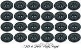 Wholesale Lot 24 Six Hole Black Bases For 4''x6'' Stick Desk Flags