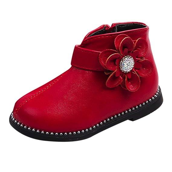 YanHoo Zapatos para niños Zapatos de Las niñas de los niños Zapatos Flores de Fondo Suave