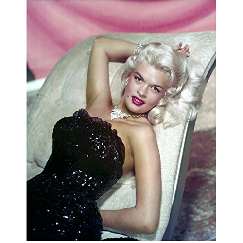 Jayne Mansfield 8x10 Photo The Match Game Spree The Girl Can't Help It Reclining on Settee Strapless Beaded Dress kn