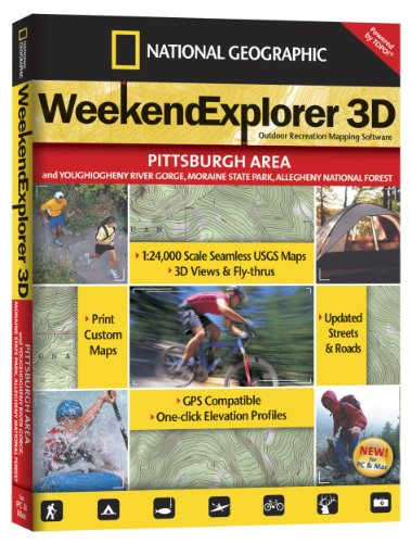 Weekend Explorer 3D - Pittsburgh Area and Youghiogheny River Gorge, Moraine State Park, Allegheny - Shopping Outlet Pittsburgh