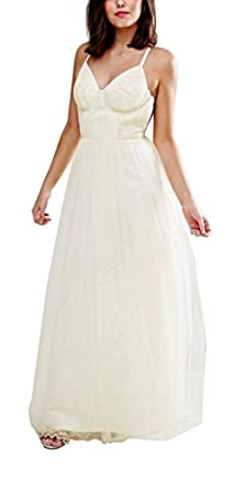 Chi Chi London Petite Hermione Maxi Tulle Wedding Prom Formal Dress, Cream,
