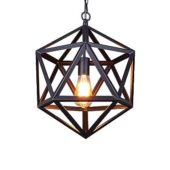 Industriales Metal Jaula Diseño Lámpara Colgante E27, Retra Luces ...