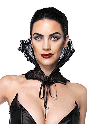 Sexy Black Lace Corset Stay Up Dracula Vampire Neck Collar Halloween Fancy Dress (Lace Corset Collar)