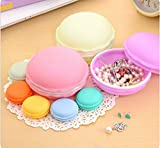 Mini Macaron Shape Storage Box Candy Jewelry Organizer Pill Necklace Beads Rings Earrings Storage Box Case Container