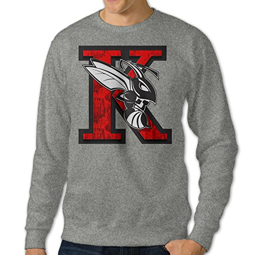 [NUBIA Men's K Hornet Logo Fashion Sweatshirt Ash XXL] (Makers Mark Costume)