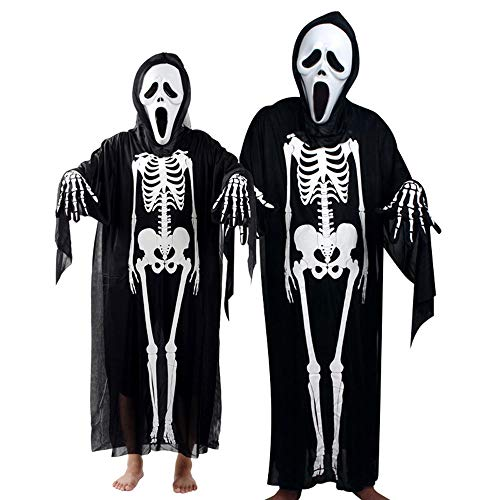 Toimoth Toddler Boys Girls Kids Halloween Cosplay Costume Cloak+Mask+Gloves Outfits Set(BlackA,D) -