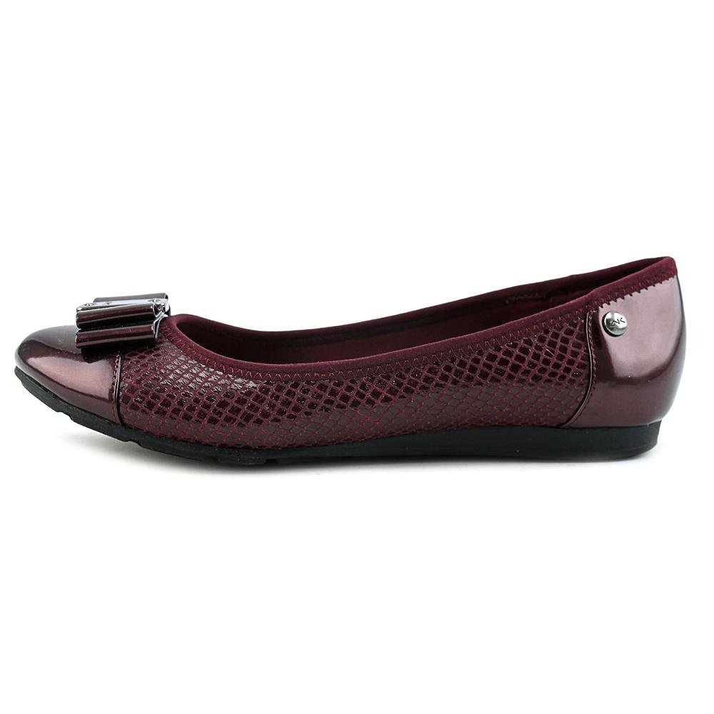 Anne Klein Womens Aricia Closed Toe Ballet Flats B01LBHC166 5.5 B(M) US|Wine Multi Fabric