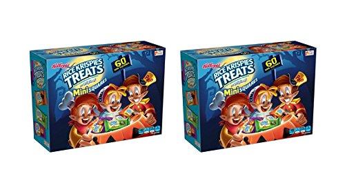 Kellogg's Rice Krispies Treats Original Marshmallow Mini Squares 60ct Halloween Treats(2-Pieces of 60ct)