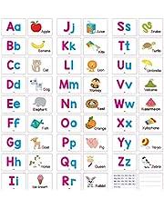 STOBOK Alfabet Flash Kort Som Matchar Bokstäver Spel ABC Ord ABC Bokstäver För Barn Förskola Lärande 27Pcs