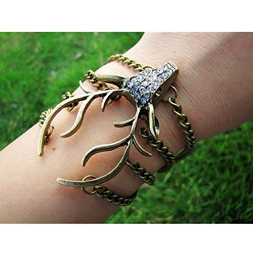 vintage-style-antique-bronze-deer-antler-pendant-women-jewelry-bangle-chain-cuff-bracelet-sl2270