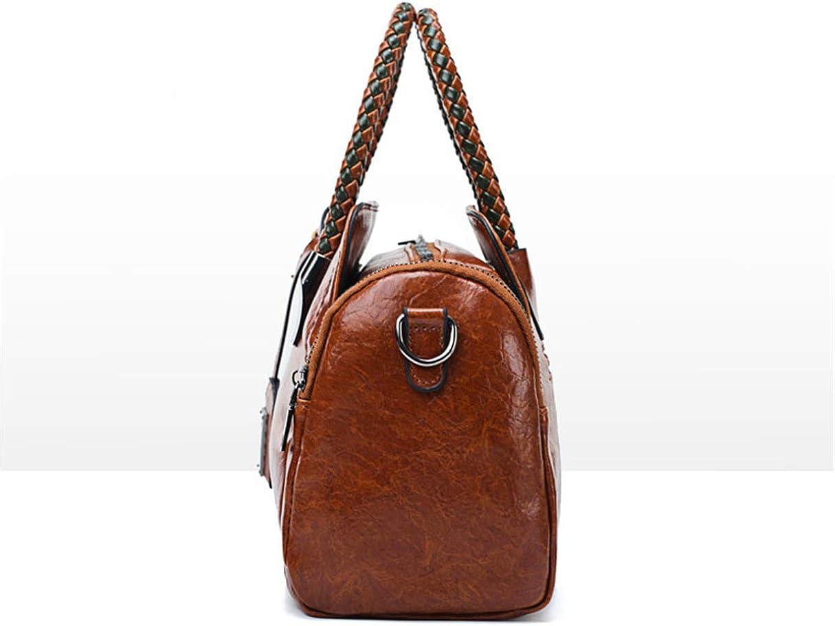 LOVE LABINI Fashionable Joker Ladies Shoulder Bag Vintage Oil Leather Crossbody Bag