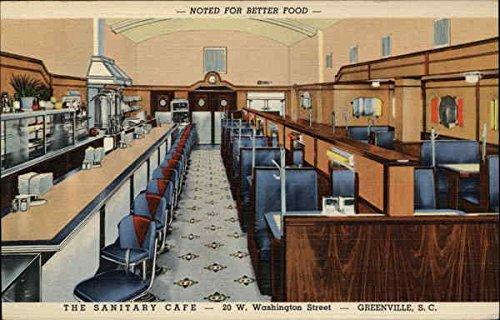 The Sanitary Cafe Greenville, South Carolina Original Vintage Postcard