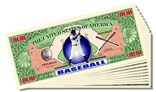 Baseball Novelty Million Dollar Bill - Set of 25 With 1 Bonus Christopher Columbus Bill - Christopher Baseball
