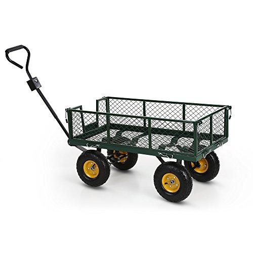 IKAYAA Gartenwagen Handwagen Bollerwagen 300Kg