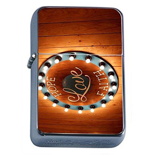 Faith By Love Treasure (Hope Love Faith Flip Top Oil Lighter Em1 Smoking Cigarette Silver Case Included)